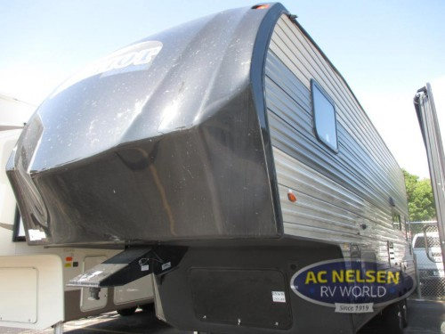 Forest River Cherokee toy hauler fifth wheel