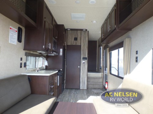 Forest River Cherokee toy hauler fifth wheel Interior