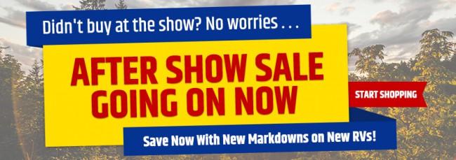 After Show Sale
